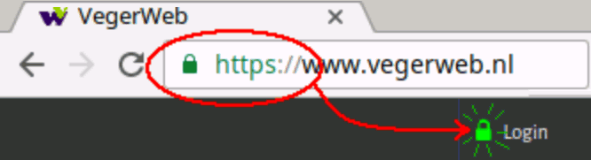 Image showing a secure HTTPS connection